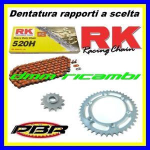 Kit Trasmissione KTM SX 125 95>20 catena arancio corona pignone PBR RK 1995 2020