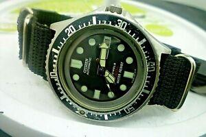 Mens  42mm CITIZEN 200m MOD 51-2273 Black Vintage 1980 Watch
