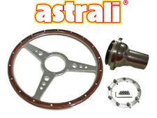 "Jaguar E-Type,MKII 15"" Astrali® Classic Wood Steering Wheel  & Polished Centre"