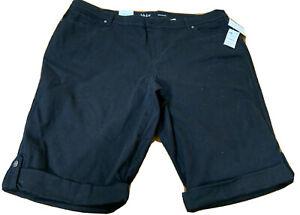 NWT  Style & Co. NWT Black Skimmer Shorts Size Plus 22W Cuffed