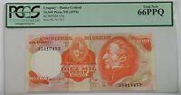 (1974) Uruguay Banco Central 10,000 Pesos Note SCWPM# 53b PCGS 66 PPQ Gem New