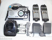 panasonic kx-tg5439s 5.8 ghz cordless phone unit with water resistant handsets