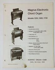 Original Magnus Electronic Chord Organs 1050 1060 1700 Service Manual