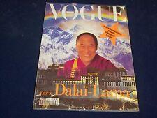 1992 DEC/1993 JAN VOGUE PARIS MAGAZINE - DALAI LAMA - FRENCH FASHION - O 5477