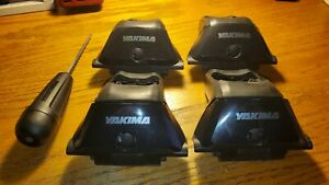 Used YAKIMA Skyline Towers, Set of 4 for Roof Rack Vehicles Fixed Points 8000148