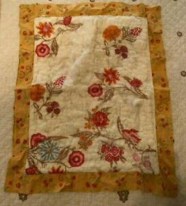 Anthropologie Floral Quilted Single Standard Pillow Sham