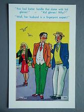 R&L Postcard: Brook Publishing Trow 11969 Busty Woman in High Heels, Kid Gloves