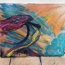 Mermaid By The Sea Painting Original Artwork Belladesign By Rebecca 16 X 20 Art