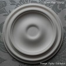 "Plaster Ceiling Roses X2 Plain Victorian Design 260 mm / 10"" UK Hand Made"