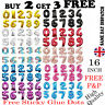 """16"""" Giant Foil Number Balloons Letter Birthday Age Party Wedding Helium Events"""