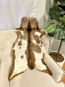 "New Genuine Goat Rug skin Area Rug Goathide Rug(32""X 27"")-AB22"
