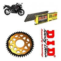 Honda CBR125 R Chain and Sprocket Kit DID Chain & Gold Sprocket 2011-16