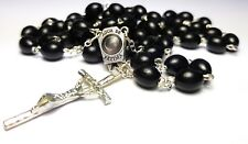 BLACK ROSARY with HOLY WATER from FATIMA Fatima Rosary Our Lady of Fatima beads