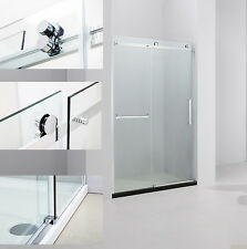 "ART OF BATH 57-59"" x 75"" FRAMELESS SLIDING SHOWER DOOR 5/16"" GLASS/CHROME D6075"