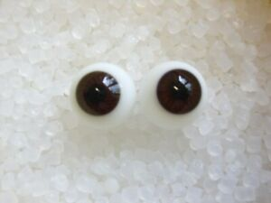 Yeux bleu//violet 18mm en verre ronds poupée ancienne//moderne//Reborn-dos plat