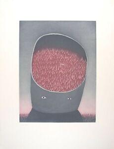 Jean-Michel FOLON s/n Aquatint Les Ruines Circulaires The Circular Ruins I 1974