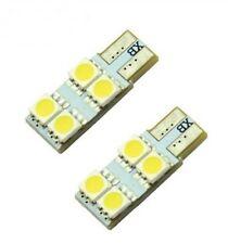 2x Ampoule W5W LED T10 BLANC XENON 4 SMD Veilleuse Phare Lumière 6500K 12V