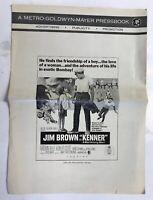 """""""Kenner"""" Pressbook Jim Brown Madlyn Rhue Robert Coote MGM"""