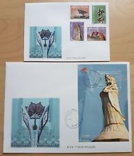 2000 Macau Contemporary Sculptures Stamps & S/S (paired) FDC 澳门现代雕塑(邮票+小型张)首日封