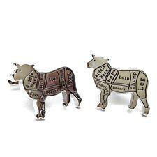 Butchers Cuts of Meat Lamb / Sheep / Mutton Cufflinks X2AJ712