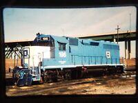 ZR04 TRAIN SLIDE Railroad Short Line EMD GP-40 196 Kansas City KS 1990