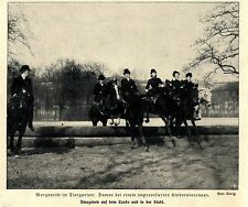 Morgenritt im Tiergarten: Damen beim Hindernissrennen * Bilddokument 1909