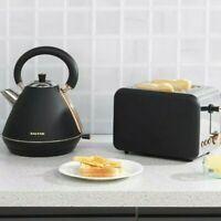 Moderne 1.7 L Sans Fil Bouilloire Électrique /& deux pain slice Fente Grille-pain set noir