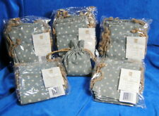 """Madeline Collection 4"""" X 5"""" Jewelry / Gift Bags Blue-Grey Back 30 Total Bags"""