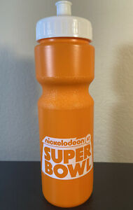 Nickelodeon at the Super Bowl Sports Water Bottle Orange Viacom Football Squeeze