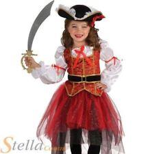 Disfraces de niña piratas color principal rojo
