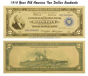 "1918 ""GOLD"" $2 DOLLAR Rep.*Banknote"