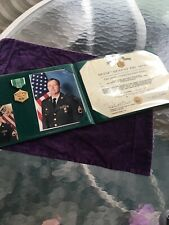 Department of the Army Commendation document & medal & Picture 1992