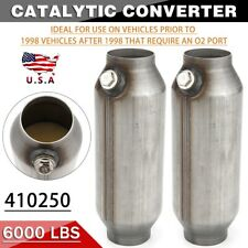 2x 25universal Spun Catalytic Converter High Flow Stainless Steel 410250 Usa