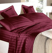 Complete bedding double satin Pure Cotton Italy Red Bordeaux GFF line