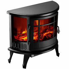 "1500W Heater 23"" Standing Electric Fireplace Stove Realistic Flame Adjustable"