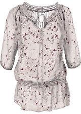 Geblümte Damen-Blusen 3/4 Arm Damenblusen, - tops & -shirts aus Polyester