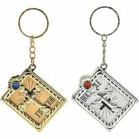 Religious Jesus Mini Cross Holy Bible Key Chain Collectibles Jewelry Key Ring