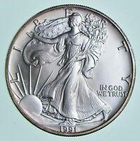 BU 1991 American Silver Eagle 1 Troy Oz .999 Fine Silver Uncirculated
