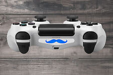 White Moustache Playstation 4 (PS4) Light Bar Decal Sticker | Pack of 3