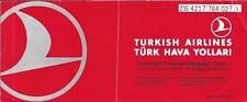 Airline Ticket - THY Turkish - 2 Flight Format - 1997 (T430)
