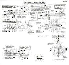Berna Decals 1/32 DASSAULT MIRAGE IIIC French Jet Fighter