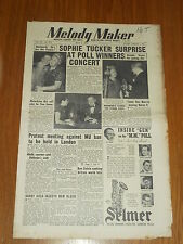 MELODY MAKER 1952 #972 MAY 3 JAZZ SWING SOPHIE TUCKER ROY WALLIS HARRY GOLD