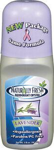 Deodorant Crystal Lavender Roll-On by Naturally Fresh, 3 oz