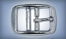 """New listing 10ea 5/8"""" Rounded Zinc Diecast Double Bar Buckle Nickel Plate R147Z"""