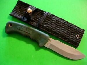 """NTSA SCHRADE USA 9 1/4"""" OVERALL FIXED BLADE OLDTIMER KNIFE W/NYLON SHEATH #1410T"""