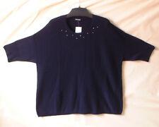 Samoon Pullover Gerry Weber Gr.2XL/XXL entspricht 50/52 Longstyle dunkelblau Neu