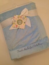Little Me Baby Boy Plush Blanket Blue Thank Heaven For Little Boys Layette 30x40