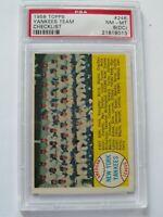 1958 TOPPS #246 NEW YORK YANKEES TEAM CARD/CHECKLIST PSA 8 NMMT O/C NICE  !!