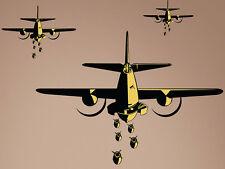 "B-25 Bombers World War 2 Airplane Wall Decal Vinyl Aviation Sticker 27x22"" Home"
