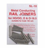 PECO SL-10 x 3 Packs of 24 Fishplates/Track Joiners 00 Code 100 Std Rail 1stPost